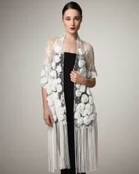 Valentino | White Rosette Lace Shawl | Lyst