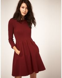 Whistles - Red Mila Jersey Dress - Lyst