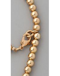 CC SKYE - Metallic Lucky Horn Rosary Bracelet - Lyst