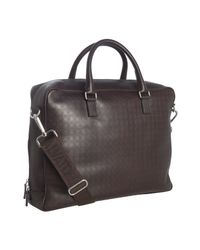 Ferragamo | Brown Gancio Embossed Leather Briefcase for Men | Lyst