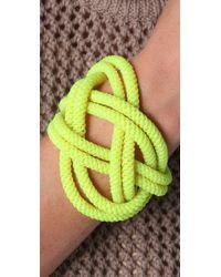 Noir Jewelry - Yellow Shaka Neon Knot Bracelet - Lyst
