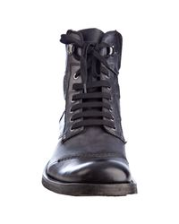Mark Nason - Black Leather Fulton Lace Up Work Boots for Men - Lyst