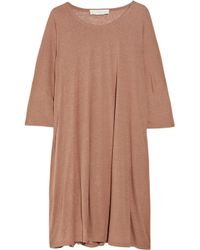 Stella McCartney | Brown Slub silk-jersey t-shirt dress | Lyst