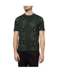 Jil Sander - Green Python Print T Shirt for Men - Lyst