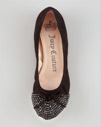 Juicy Couture   Black Clara Bead-toe Ballerina Flat   Lyst