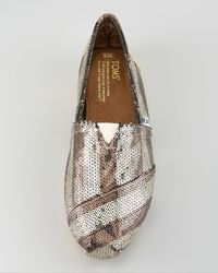 TOMS | Metallic Gurley Sequined Slip-on | Lyst
