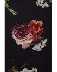 TOPSHOP - Black Sleeveless Rose Print Shirt - Lyst