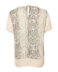 TOPSHOP - Multicolor Snake Panel Short Sleeve Tee - Lyst