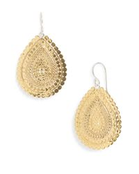 Anna Beck | Metallic 'Flores' Chain Drop Earrings | Lyst
