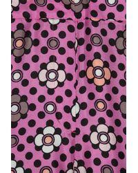 Emanuel Ungaro - Black Wide-leg Printed Floral Silk-twill Pants - Lyst