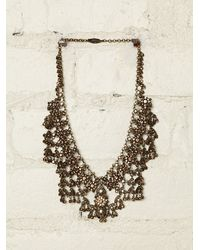 Free People | Metallic Vintage Brass Necklace | Lyst