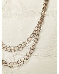 Free People - Metallic Vintage Chain Link Necklace - Lyst