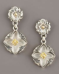 Konstantino - White Iris Rock Crystal Earrings - Lyst