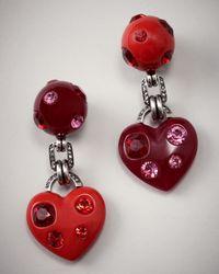 Lanvin | Red Heart Drop Earrings | Lyst