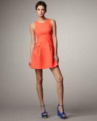 Nanette Lepore | Orange Valley Girl Flare Dress | Lyst