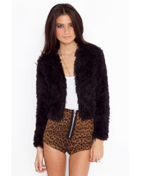 Nasty Gal | Black Sasha Shag Jacket  | Lyst