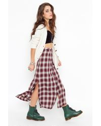 Nasty Gal - Red Nevermind Maxi Skirt - Lyst