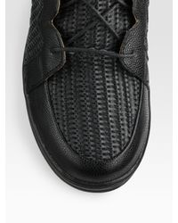 Jump   Black Leather Mid-Top Sneakers for Men   Lyst