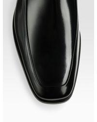 Prada | Black Venetian Dress Slip-On Loafers for Men | Lyst