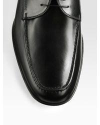 Prada - Black Lace-Up Oxfords for Men - Lyst