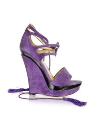 Rachel Zoe | Kayne - Purple Suede Wedge | Lyst