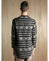 Sasquatchfabrix - Black Mens Collarless Guatemala Shirt for Men - Lyst