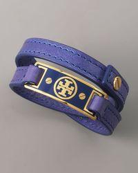 Tory Burch - Logo Wrap Bracelet, Purple - Lyst
