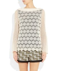 Tory Burch | Natural Janeen Broderie Anglaise Cotton Top | Lyst