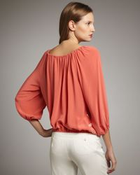 Trina Turk | Orange Traveler Paisley Blouse | Lyst