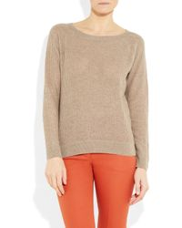 Vanessa Bruno - Natural Fine-knit Cashmere and Wool-blend Sweater - Lyst