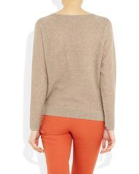 Vanessa Bruno | Natural Fine-knit Cashmere and Wool-blend Sweater | Lyst
