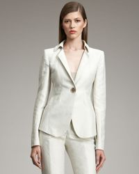 Armani | Natural One-button Linen-blend Jacket | Lyst