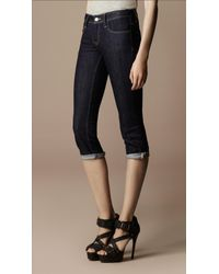 Burberry Brit | Blue Buckingham Skinny Fit Capri | Lyst