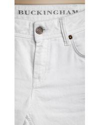 Burberry Brit | White Buckingham Skinny Fit Capri | Lyst