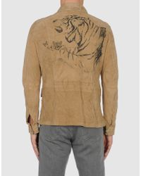 Class Roberto Cavalli - Natural Leather Jacket  for Men - Lyst