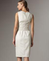 David Meister | White Belted Sheath Dress | Lyst