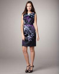 Elie Tahari | Black Brittany Printed Dress | Lyst