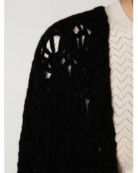 Free People - Black Cashmere Crochet Cardigan - Lyst