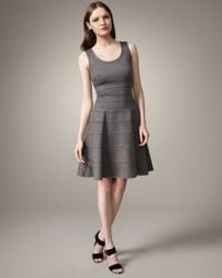 Issa   Gray Fit-and-flare Dress   Lyst