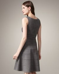 Issa | Gray Fit-and-flare Dress | Lyst
