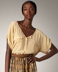 Joie | Natural Sissy Silk Blouse | Lyst