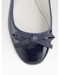 Vera Wang Lavender | Blue Laetitia Patent Leather Bow Ballet Flats | Lyst
