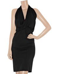 Rick Owens Lilies | Black Jersey Halterneck Dress | Lyst