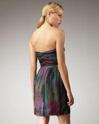 Shoshanna | Multicolor Dot-print Silk Dress | Lyst