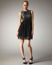 Tibi | Imperial Lace Dress in Black | Lyst