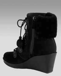 Cole Haan - Black Air Tali Waterproof Shearling Boot - Lyst