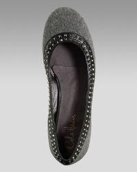 Cole Haan - Gray Air Tali Studded Ballerina Flat - Lyst