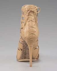 Dior - Natural Lattice Ankle Bootie - Lyst
