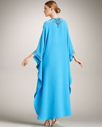 Emilio Pucci | Blue Embroidered Caftan | Lyst