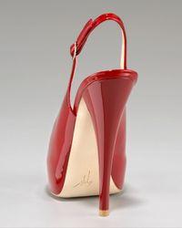 Giuseppe Zanotti - Black Patent Peep-Toe Slingback Pump - Lyst